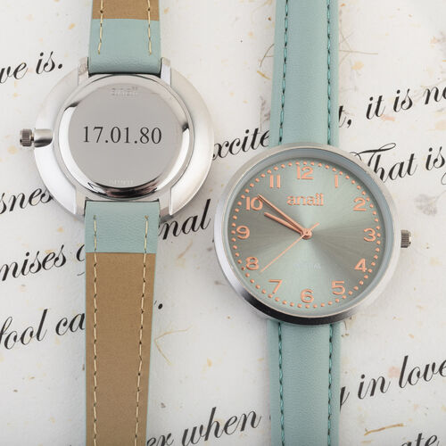 Personalised Engravable ANAII Mistral Mint Watch