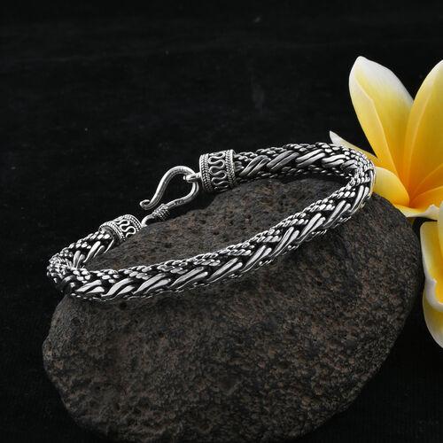 Royal Bali Collection Sterling Silver Tulang Naga Bracelet (Size 7), Silver wt 29.93 Gms.