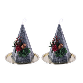 The 5th Season - Set of 2 - Christmas Tree Shaped Scented Candles in Gift Box (Candle Size 7.5x7.5x1