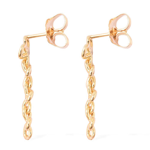 LucyQ Splash Collection - Yellow Gold Overlay Sterling Silver Dangle Earrings (with Push Back)