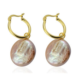 Keshi Pearl Drop Earrings in Gold Plated Sterling Silver