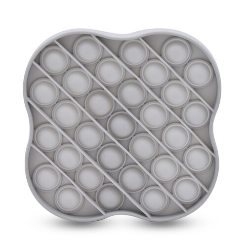 Push Bubble Stress Relieving Flower Fidget for Adults/Children in Grey (11.5x11.5cm)
