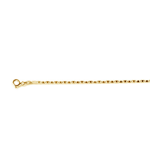 Italian Close Out 14K Gold Overlay Sterling Silver Valentino Chain (Size 18)