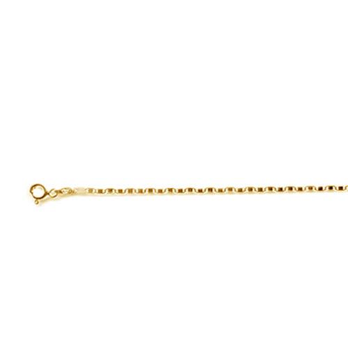 Italian Made Diamond Cut 14K Gold Overlay Sterling Silver Flat Mariner Chain (Size 18)