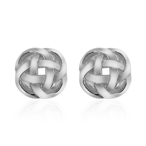 Sterling Silver Byzantine Knot Stud Earrings (with Push Back)