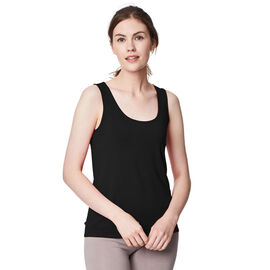Thought Bamboo Base Layer Singlet in Black Colour