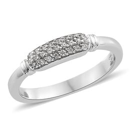 Swarovski Zirconia (0.25 Ct) Platinum Overlay Sterling Silver Ring  0.250  Ct.