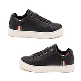 19V69 ITALIA Mens Sneaker Shoes - Black