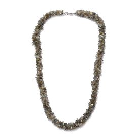 Labradorite Necklace (Size 20) in Platinum Overlay Sterling Silver   252.750 Ct.