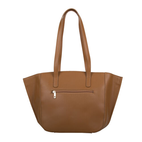Bulaggi Collection - Delphinium Shopping Bag with Buckle (Size 40-30x26x13cm) - Camel