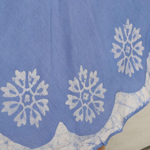 Tie Dye Umbrella Dress in Blue (Size upto 18) Length 120cm/47in