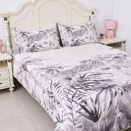 Soft and Warm Microflannel 4 Pcs. Comforter Set (1 Duvet, 1 Fitted Sheet DOUBLE Size, 2 Pillow Cases