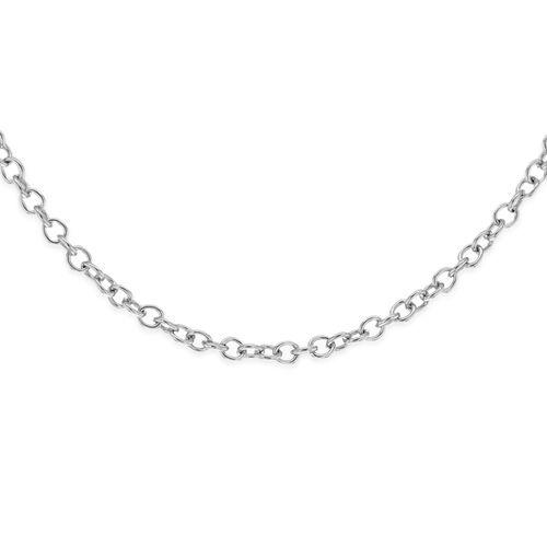 Close Out Deal RHAPSODY 950 Platinum Necklace (Size 18), Platinum wt 1.80 Gms.