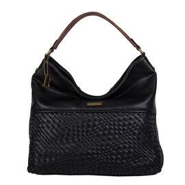 Bulaggi Collection- Bryon Hobo Shoulder Bag (Size 36x36x11 Cm) - Black