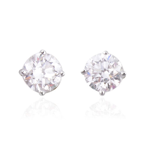 New York Close Out - ILIANA 18K White Gold AGI Certified Diamond (SI/ G-H) (Rnd) Stud Earrings (with Screw Back) 1.000 Ct.