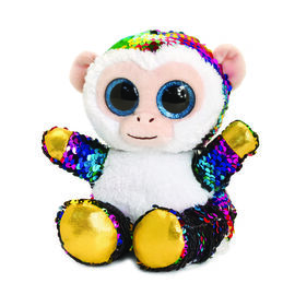 Keel Toys - Glitter Motsu - Silver and Multicolour Sequins Monkey
