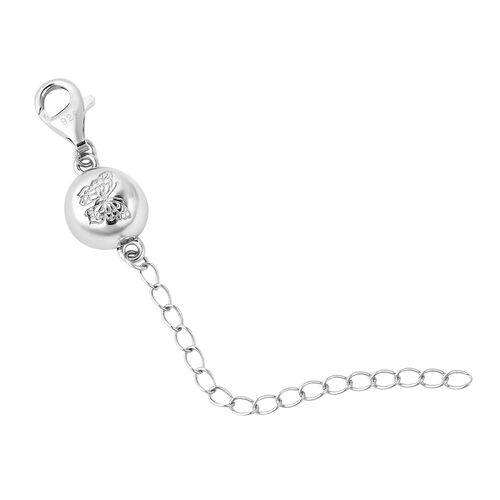 Rhodium Overlay Sterling Silver Clasp