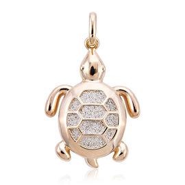 Royal Bali Collection - 9K Yellow Gold Turtle Pendant