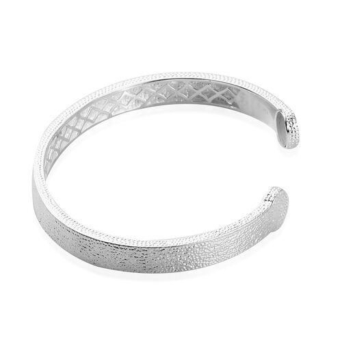 Magnetic Cuff Bangle (Size 7.5) in Silver Tone
