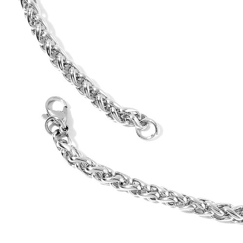 Spiga Necklace (Size 30) and Bracelet (Size 8.5) in Stainless Steel