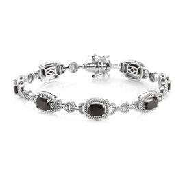 6.25 Ct Elite Shungite Station Bracelet in Platinum Plated 8 Inch
