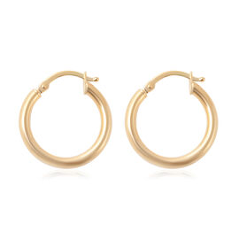 9K Yellow Gold Hoop Earrings