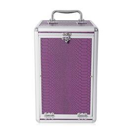 Purple Colour Dragon Skin Pattern 5 Layer Jewellery Box (Size 33x2019.5 Cm)