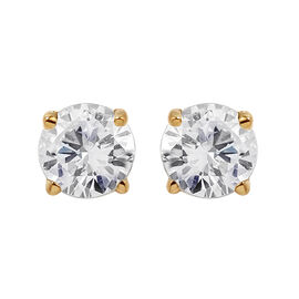 NY Close Out Deal- 14K Yellow Gold Diamond (I1-I2) Stud Earrings (with Screw Back) 0.50 Ct.