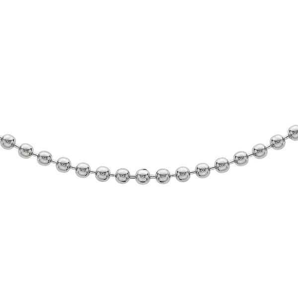 Sterling Silver Ball Bead Chain (Size 18), Silver wt 5.30 Gms