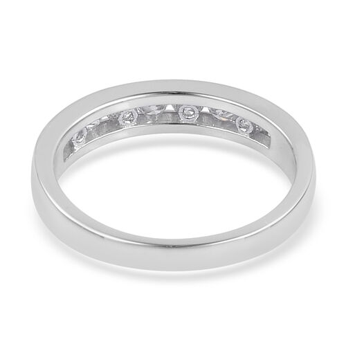 ILIANA 0.50 Carat Diamond (SI/G-H) Half Eternity Band Ring in 18K White Gold