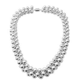 Designer Inspired Sterling Silver Necklace with Magnetic Clasp (Size 20), Silver wt 211.00 Gms.