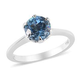 RHAPSODY 1 Carat AAAA Santa Maria Aquamarine Solitaire Ring in 950 Platinum