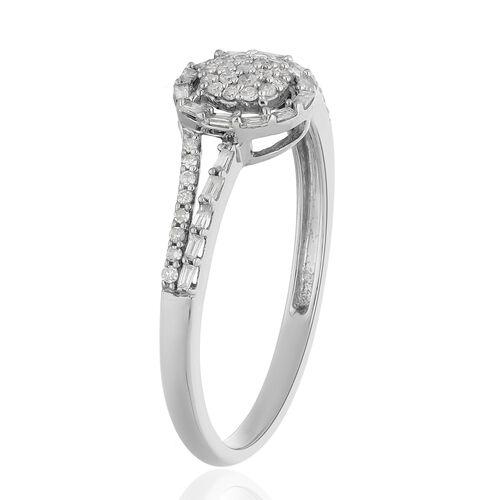 9K White Gold SGL Certified Diamond (I3/G-H) Ring  0.250  Ct.