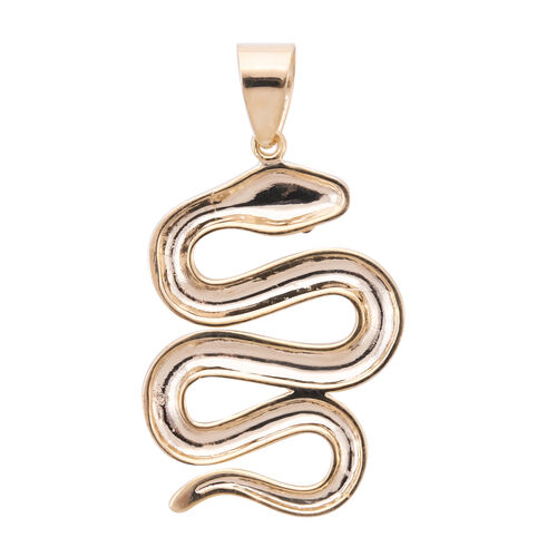One Time Close Out Deal - 9K Yellow Gold Enamelled Serpent Pendant