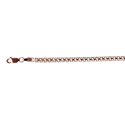 JCK Vegas Collection Rose Gold Overlay Sterling Silver Bismark Chain (Size 20), Silver wt 4.15 Gms.