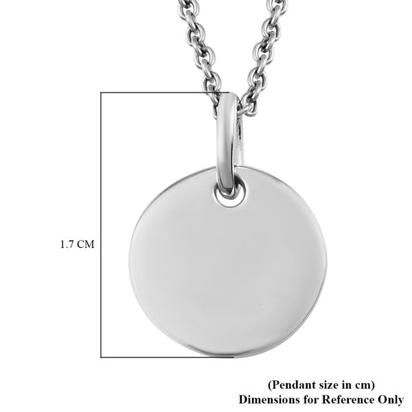 SPECIAL ORDER - Platinum Overlay Sterling Silver Pendant with Chain (Size 20)