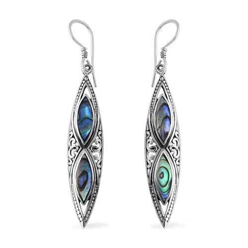 Mega Bali Deal-Royal Bali Collection Abalone Shell Hook Earrings in Sterling Silver