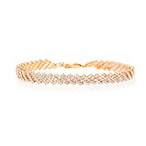 One Time Close Out Deal- AAA Austrian Crystal Bracelet (Size 7.5 with 2 inch Extender) in Rose Gold Bond