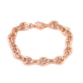 Rose Gold Overlay Sterling Silver Mariner Bracelet (Size 6.5), Silver wt 10.36 Gms.