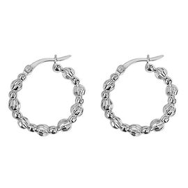 New York Close Out Deal- Sterling Silver Hoop Earrings (with Clasp)