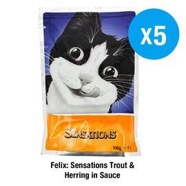 Felix: Sensations Trout & Herring in Sauce - 5X100G (Set of 2)