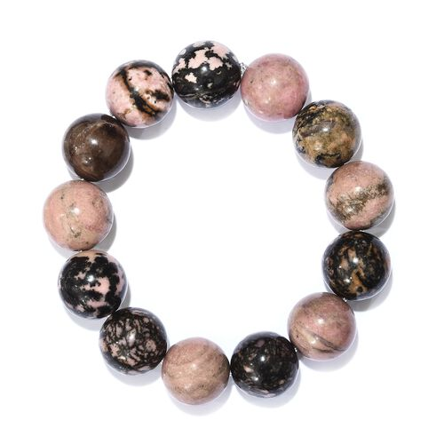 One Time Deal- Rare Size AAA Natural Jasper Stretchable Ball Bracelet (Size 7.5) 380.000 Ct.