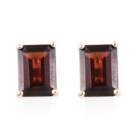 WEBEX- 9K Yellow Gold (Oct) Mozambique Garnet Solitaire Stud Earrings 2.40 Ct.