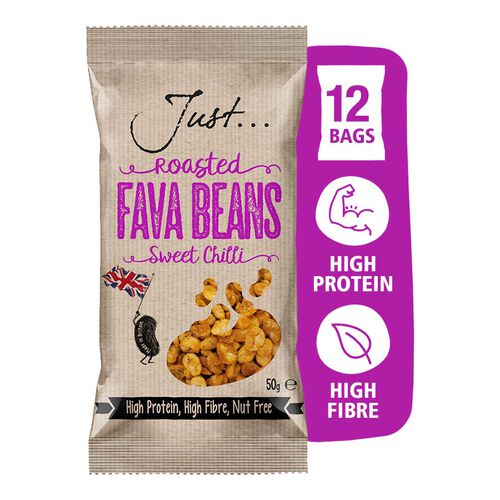 Just Roasted Fava Beans Sweet Chilli 12x50g
