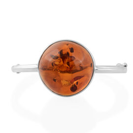 Baltic Amber Cuff Bangle in Silver 13 Grams 7.5 Inch