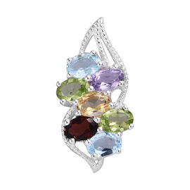 Rose De France Amethyst (Ovl 6x4 mm), Hebei Peridot, Sky Blue Topaz, Citrine and Mozambique Garnet P
