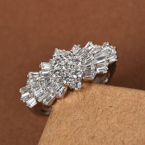 RHAPSODY 1.01 Ct Diamond Ballerina Ring in 950 Platinum 6.50 Grams IGI Certified VS EF