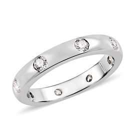 RHAPSODY 950 Platinum IGI Certified Diamond (VS/E-F) Band Ring 0.50 Ct, Platinum wt 5.31 Gms