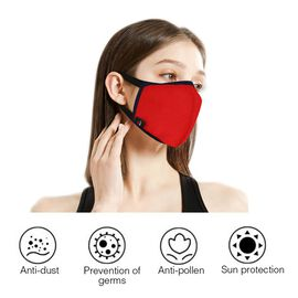 DOD-6 Layer Washable Anti Dust Face Covering - Red