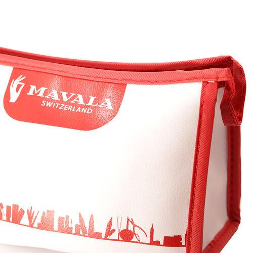 Mavala French Manicure Kit- Scientifique Nail Hardener 2ml, 002 Base Coat 5ml Colorfix 5ml Colour Riga 5ml Colour White 5ml, Nail Polish Remover Pads, Orange Sticks, Emery Boards